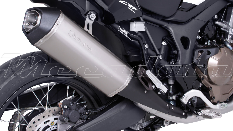 Silenziatore tubo di scarico remus acciaio inox nero honda for Tubo di scarico pex